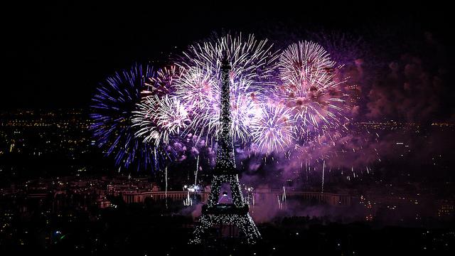 geux d'artifice Tour Eiffel 14 juillet