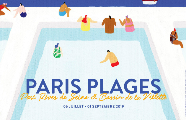 Affiche-Paris-Plages-2019-Parc-Rives-de-Seine-Bassin-de-la-Villette-_-630×405-_-©-Mairie-de-Paris